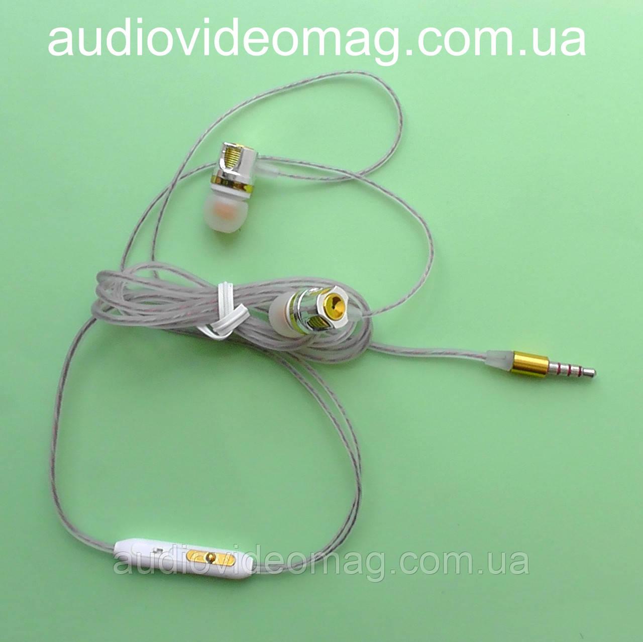 Гарнитура XL-K L338 (наушники с микрофоном), силиконовая оплетка, для всех типов телефонов