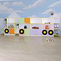 Детская стенка для игрушек «Машина»