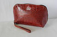 Косметичка женская кожаная коричневая Karya 2022-61
