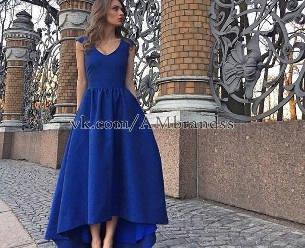 Вечерние платья спереди короче чем сзади