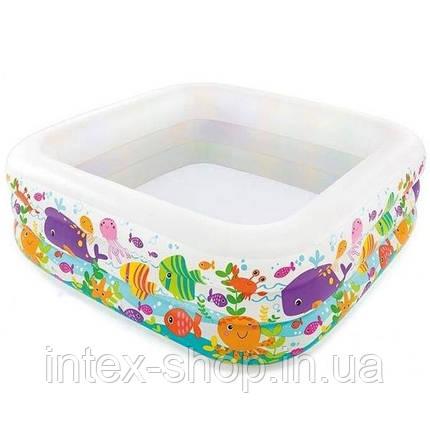 """Детский надувной бассейн """"Аквариум"""" Intex 57471 (159x159x50 см.), фото 2"""