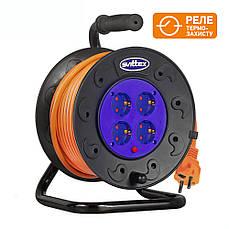 Удлинитель SVITTEX на катушке 40м  с сечением провода 3х1,5 мм² и термозащитой!