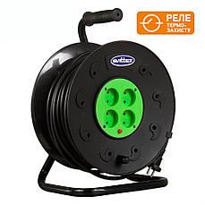 Удлинитель SVITTEX на катушке 50м  с сечением провода 2х2,5 мм² и термозащитой!