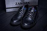 Мужские кожаные кеды ZG Black Stage, фото 8