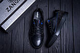 Мужские кожаные кеды ZG Black Stage, фото 9