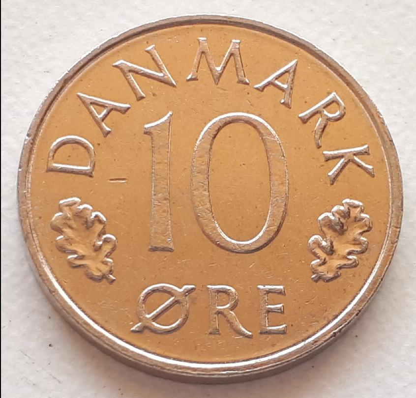 Дания 10 эре 1986