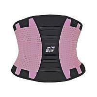 Пояс для поддержки спины Power System, резина, полиэфир, нейлон, р-р S-XL, розовый (PS_6031)