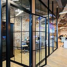 Офисные перегородки из стекла и алюминия, фото 3