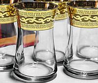 """Набор чайных стаканов """"Бейсик"""" с рисунком Версаче (EAV08V-361), фото 1"""