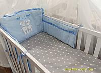 Бортики в детскую кроватку Мышата