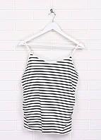 Майка для беременных H&M полоска чёрно-белого хлопок