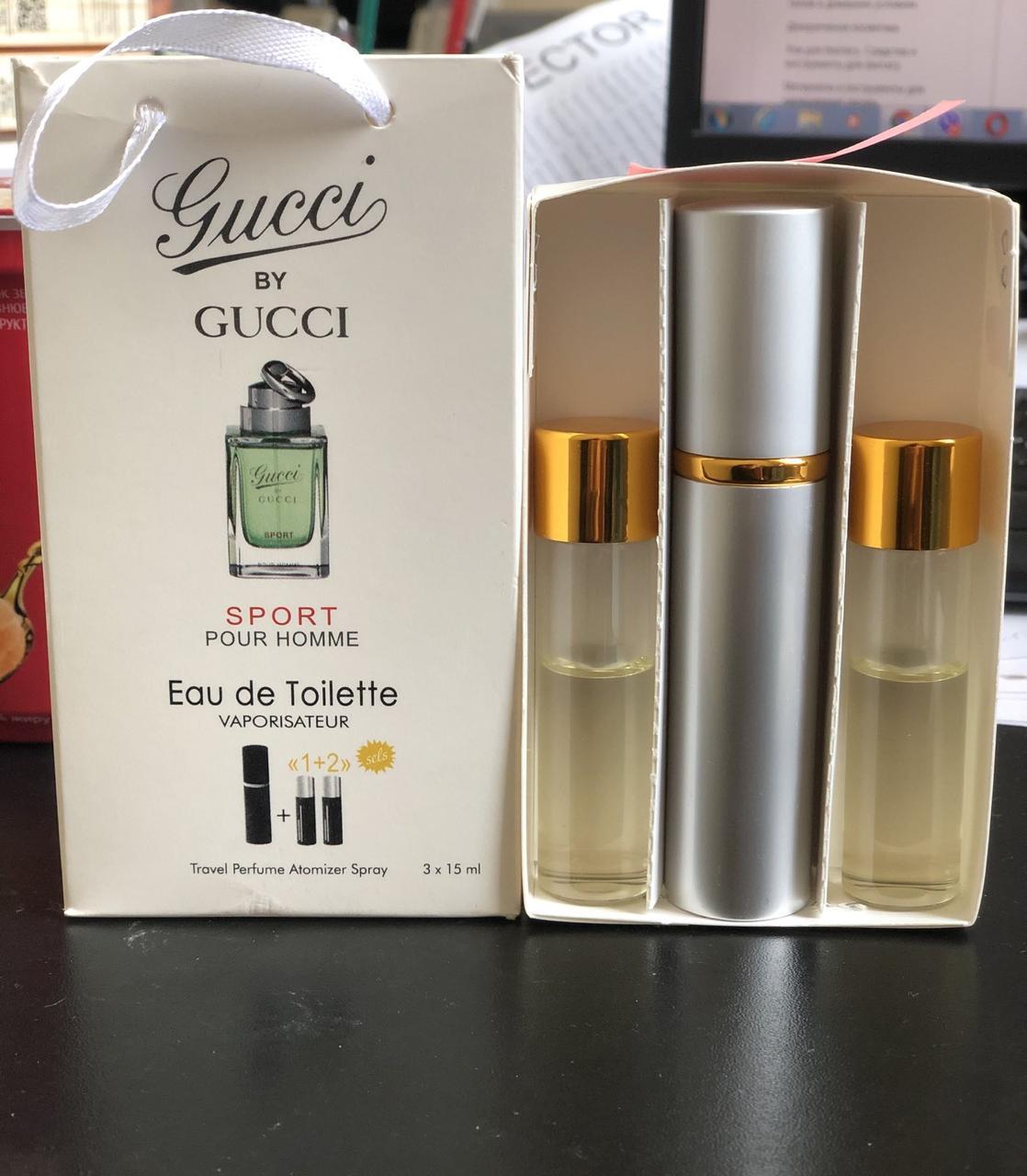 Gucci by Gucci Sport (Гучи бай гучи спорт) 3х15 мл-10m - репліка. Шлюб