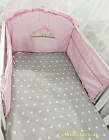 Бортики в детскую кроватку Ромашка
