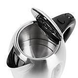 Чайник электрический электрочайник Adler AD 1223 1.7 л Silver, фото 4