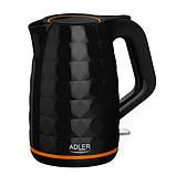 Чайник электрический электрочайник Adler AD 1277 1.7 л Black, фото 3