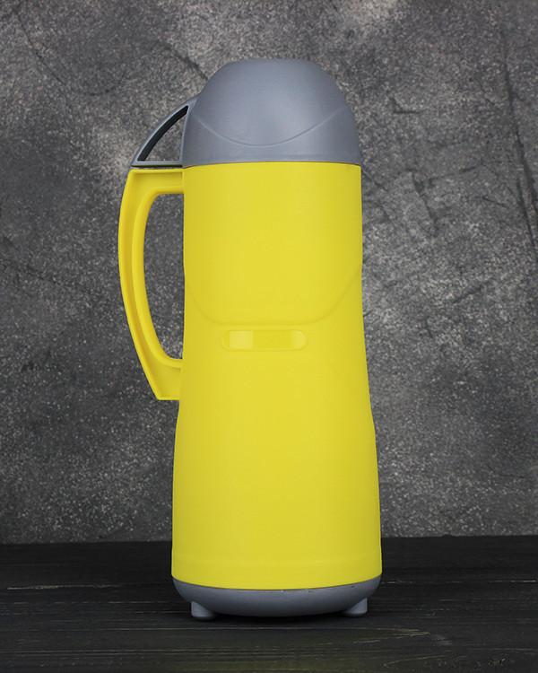 Термос пластиковый со стеклянной колбой Stenson DB105SX 0.5 л Yellow