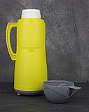 Термос пластиковый со стеклянной колбой Stenson DB105SX 0.5 л Yellow, фото 2