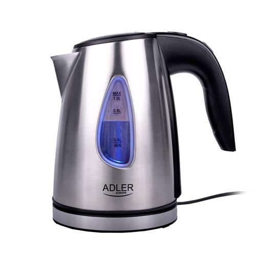 Чайник электрический электрочайник Adler AD 1203 1 л Silver