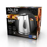 Чайник электрический электрочайник Adler AD 1203 1 л Silver, фото 8
