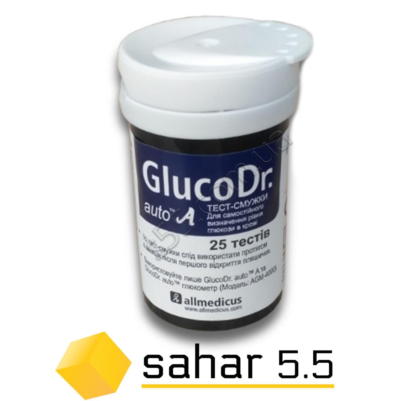 Полоски для глюкометра Глюко Доктор Ауто - 25шт - GlucoDr. Auto A