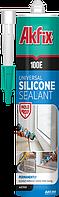 Универсальный силиконовый герметик  Akfix 100E 280мл белый