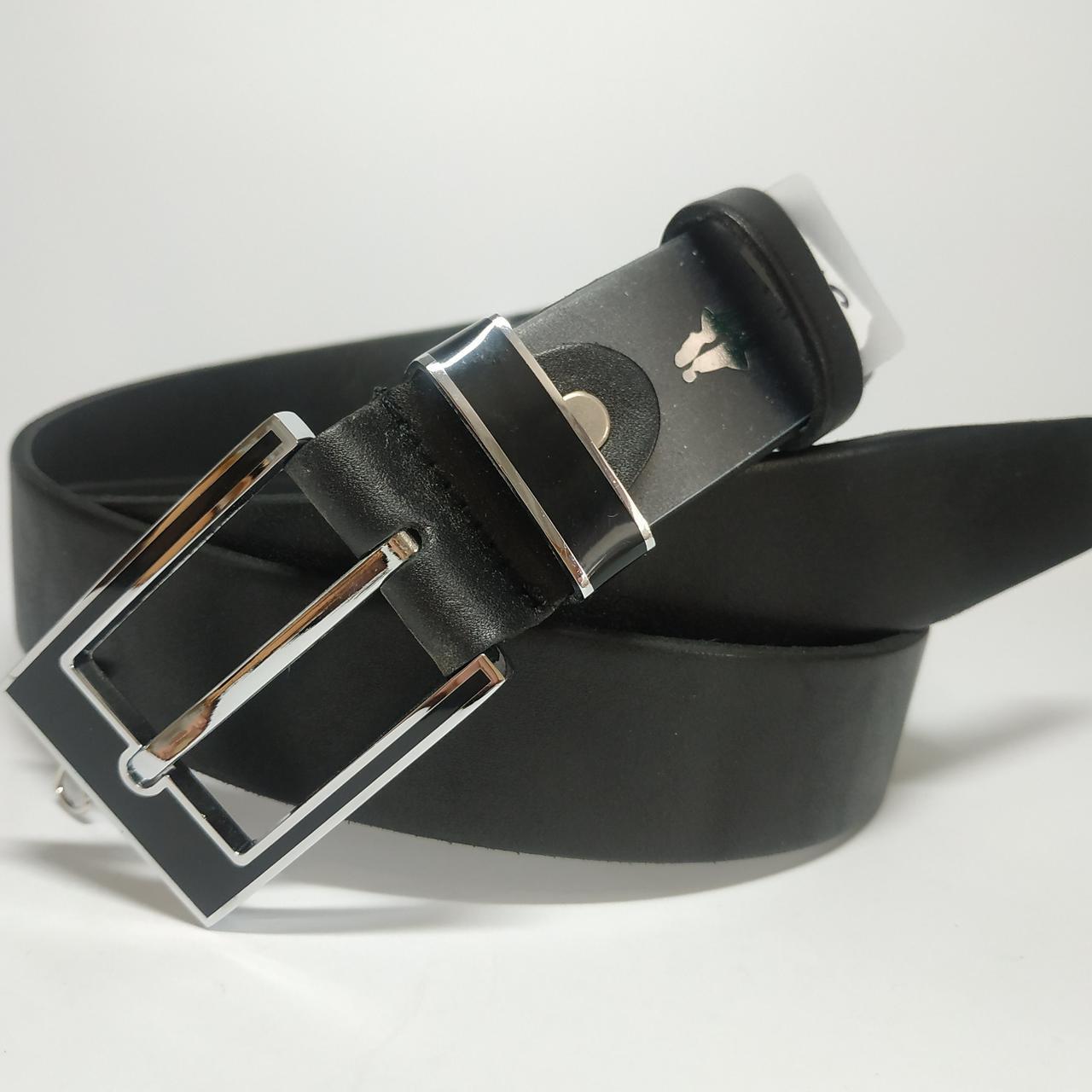 Мужской кожаный ремень с классической пряжкой L011