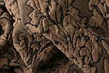 Чехол на диван и два кресла Жаккард Бордовый Milano Karna Турция 50165, фото 4