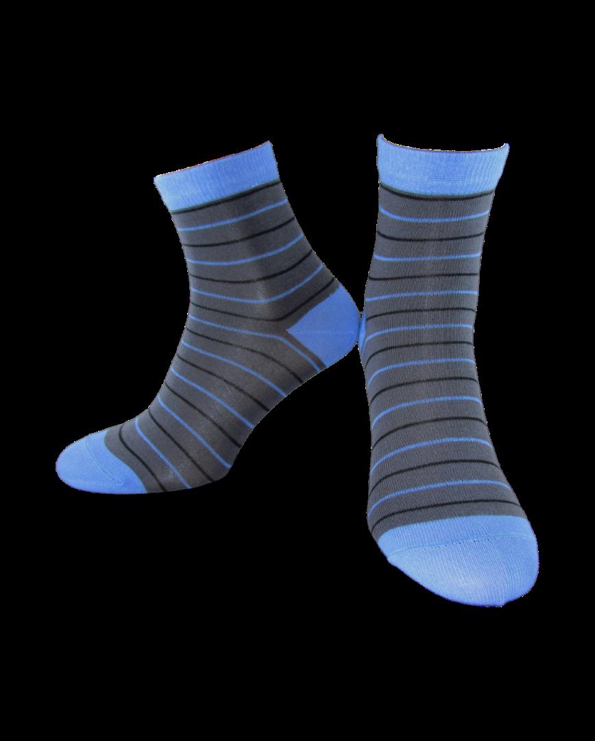 Носки детские Легкая Хода 9215 темно-серый-голубой