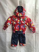 Детский демисезонный комбинезон для мальчика 2-5 лет,красный