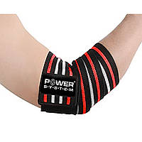 Локтевые бинты Power System Elbow Wraps PS-3600 Red/Black, фото 1