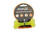 Іграшка для собак кістка AnimAll Fun 88101 8 см жовта