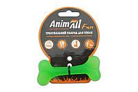 Іграшка для собак кістка AnimAll Fun 88105 8 см зелена