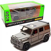 Игрушка машина Автопром Мерседес Бенц (Mercedes-Benz) серебряный. Гелендваген (Гелик) 20х8х10 см (7688MS)