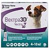 Краплі Vectra 3D Вектра 3Д від бліх і кліщів для собак маленьких порід вагою 4-10 кг 1,6 мл 1 уп