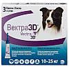 Краплі Vectra 3D Вектра 3Д від бліх і кліщів для собак середніх порід вагою 10-25 кг 3,6 мл 1 уп