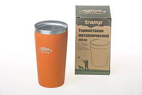 Термостакан металлический Tramp (450мл) оранжевый TRC-102, фото 2