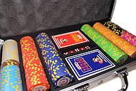 """Набор для покера """"Texas Holdem Poker"""" 300 фишек с номиналом, фото 2"""