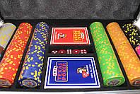 """Набор для покера """"Texas Holdem Poker"""" 300 фишек с номиналом, фото 3"""