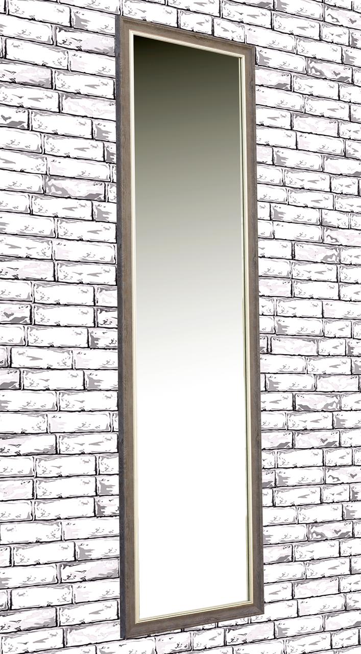 Зеркало настенное в раме Factura Brown 45х160 см коричневое