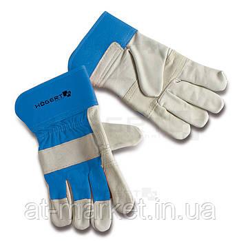 Перчатки рабочие 10.5'' с твердым  манжетом, коровья кожа HT5K214