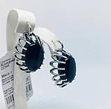 Срібні сережки з оніксом Жозефіна, фото 2