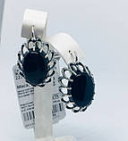 Срібні сережки з оніксом Жозефіна, фото 3