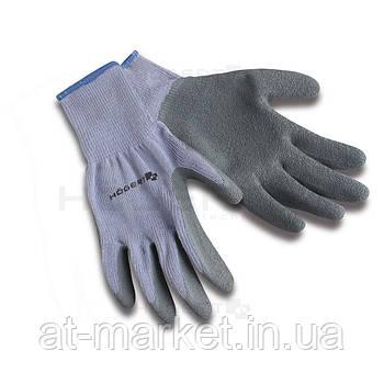 """Перчатки рабочие 8"""", хлопок с латексным покрытием HT5K208"""