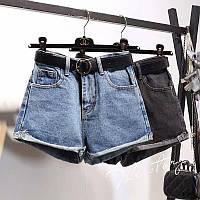 Трендовые джинсовые шорты с высокой посадкой Код164ЕЖВ