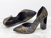 """Эксклюзивные туфли из натуральной кожи """"змея"""" 36-40р, фото 1"""