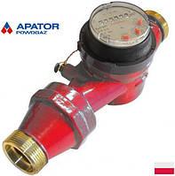 Водосчетчики Apator Powogaz JS-130-3,5 ГВ Ду-25 на горячую воду одноструйные крыльчатые сухоходы для домов
