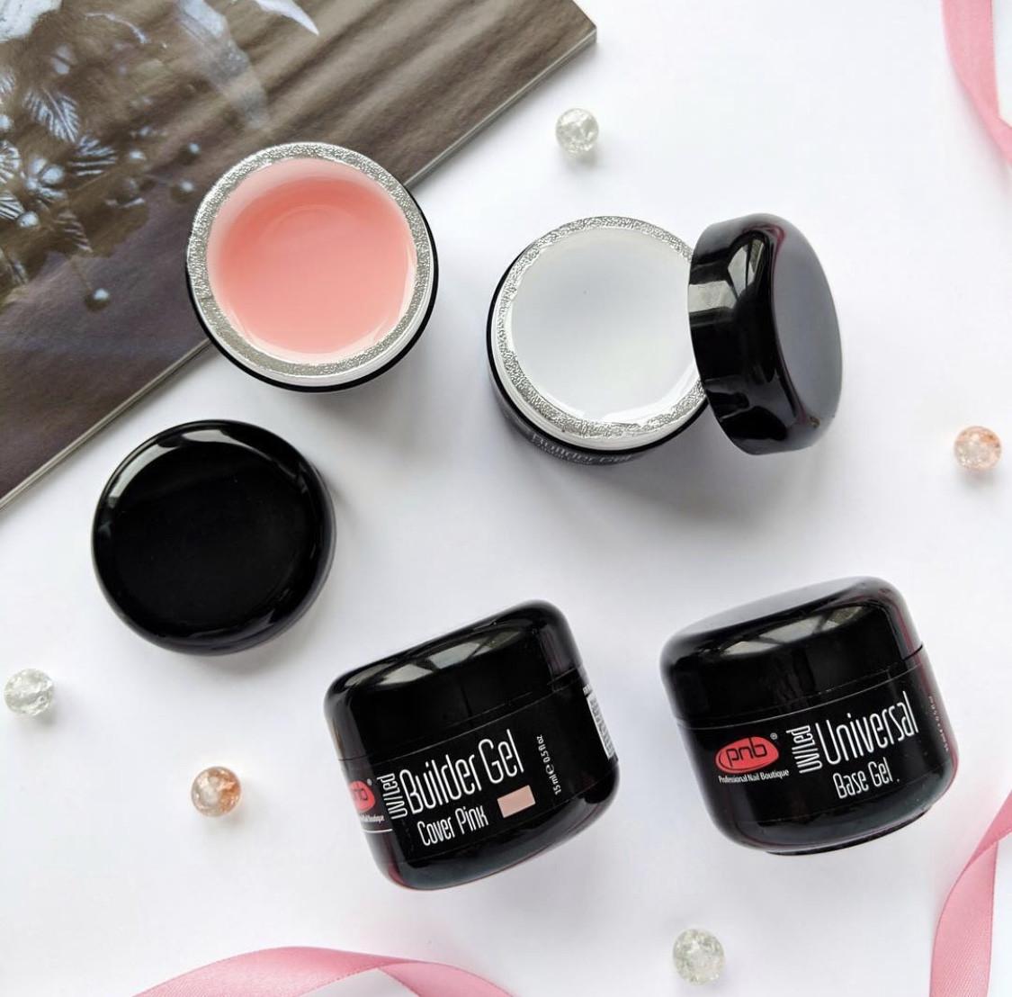PNB UV/LED Builder Gel Cover Pink (15 ml) гель камуфлирующий розовый