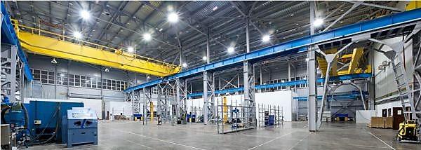 промислові світильники для великих приміщень