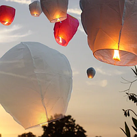 Топ! Качественный Небесный фонарик Купол 110 см на Свадьбу
