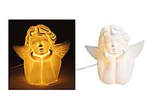 Світильник нічник Ангел білий кераміка 24X14X22 см 10019478